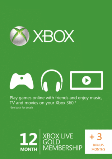 XBOX LIVE GOLD SUBSCRIPTION (ONE/360) - 15 MESECI CENA