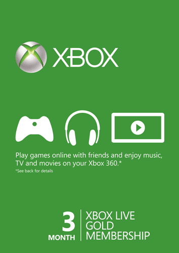 XBOX LIVE GOLD SUBSCRIPTION (ONE/360) - 3 MESECA CENA