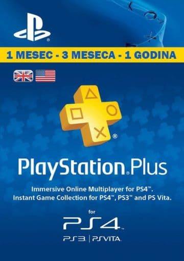 PlayStation Plus Srbija Cena Prodaja - PSN Plus pretplata za PS5, PS4 i PS3 - 1, 3 ili 12 meseci UK US