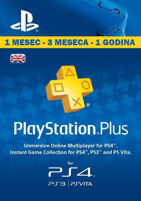 PSN Plus pretplata za PS4 i PS3 - 1, 3 ili 12 meseci