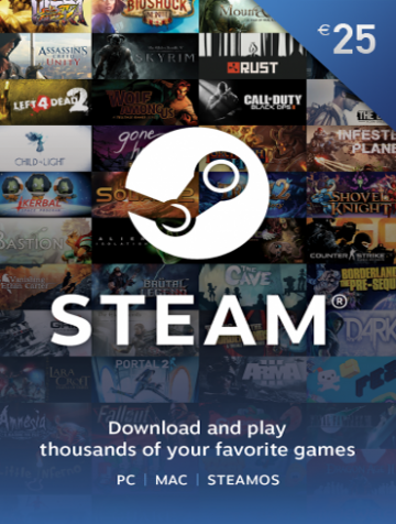 25 EUR Steam Wallet Kod
