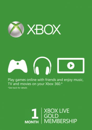 XBOX LIVE GOLD SUBSCRIPTION (ONE/360) - 1 MESEC CENA