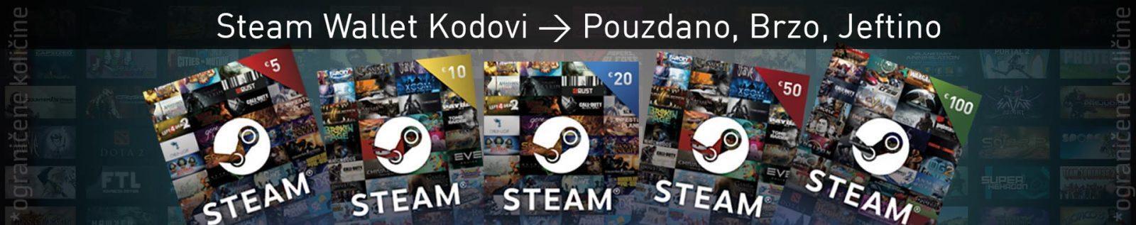 Steam Wallet Kodovi Cena Srbija Prodaja Gift Card Kartice