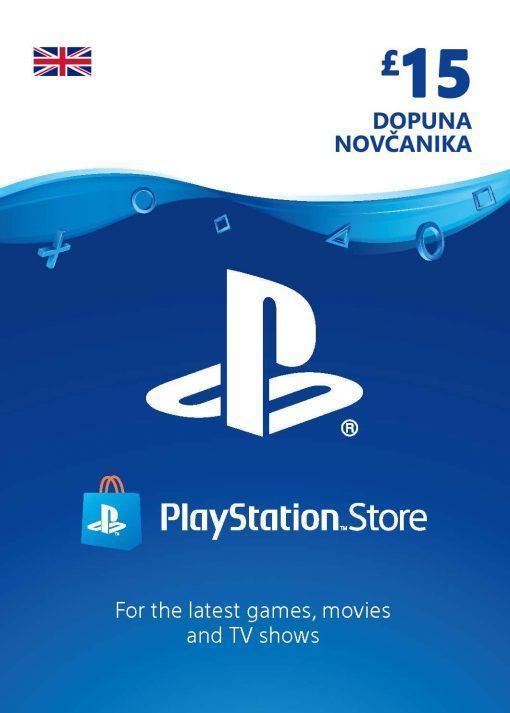 PlayStation Card 15£ UK Dopuna Kartica Kod Cena Jeftino Srbija