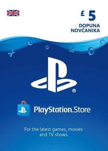 PlayStation Card 5£ UK Dopuna Kartica Kod Cena Jeftino Srbija