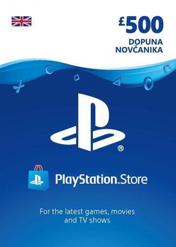 PlayStation Card 500£ UK Dopuna Kartica Kod Cena Jeftino Srbija