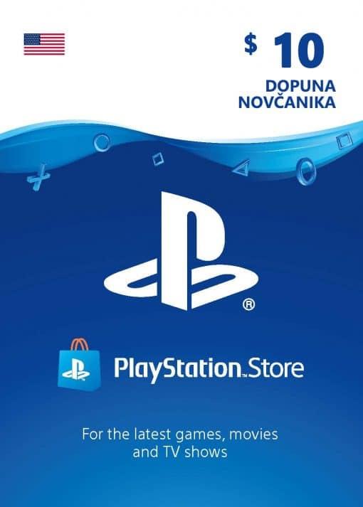 PlayStation Card 10$ 10 USD Dopuna Kartica Kod Cena Jeftino Srbija