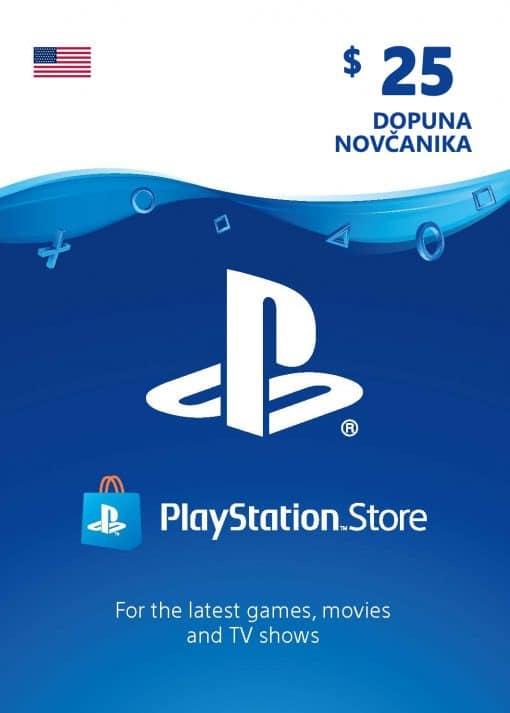 PlayStation Card 25$ 25 USD Dopuna Kartica Kod Cena Jeftino Srbija