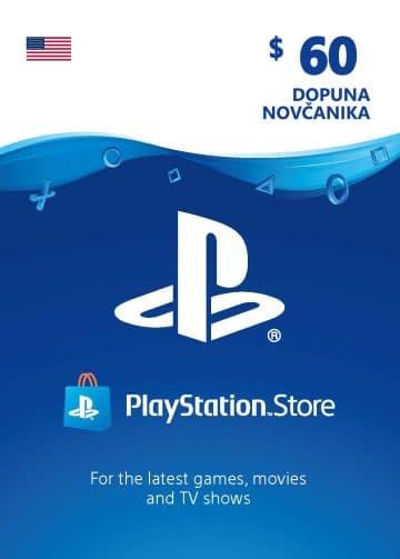 PlayStation Card 60$ 60 USD Dopuna Kartica Kod Cena Jeftino Srbija