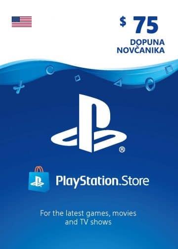 PlayStation Card 75$ 75 USD Dopuna Kartica Kod Cena Jeftino Srbija