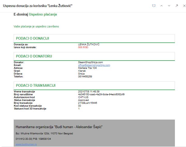 Steam Shop Srbija donacije